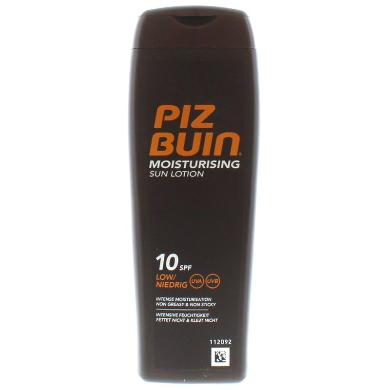 Piz Buin Moisturising Sun Lotion SPF 10 200 ml - MyHair.dk