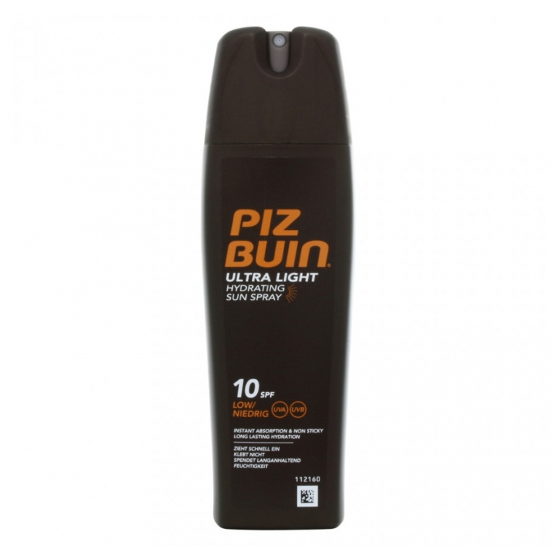 Piz Buin Ultra Light Spray SPF 10 200 ml - MyHair.dk