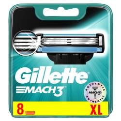 Gillette Mach 3 Barberblade (8 stk.)