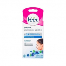Veet Easy-Gel Voks Strips Sensitiv Ansigt 20 stk.