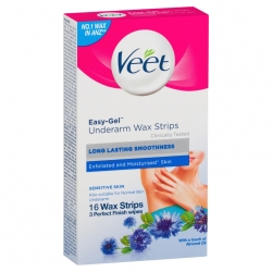 Veet Easy-Gel Voks Strips Sensitiv Armhule 16 stk.