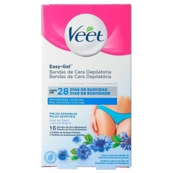 Veet Easy-Gel Voks Strips Sensitiv Bikini 16 stk.