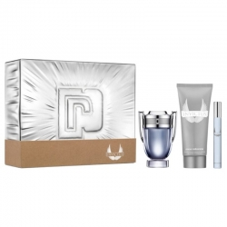 Paco Rabanne Invictus sæt EDT 50 ml - Shampoo 100 ml - mini EDT 10 ml