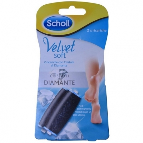 Scholl Velvet Smooth Diamond Fodfil Refill x 2