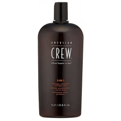 American Crew 3-in-1 Shampoo Conditioner Body Wash 1000ml