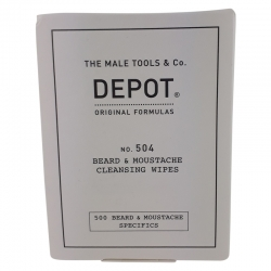 Depot No. 504 Beard & Moustache Cleansing Wipes 12 stk.