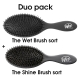hh simonsen The Wet Brush Duo Shine + Detangle brush black