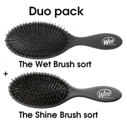 hh simonsen The Wet Brush Duo Shine + Detangle brush black