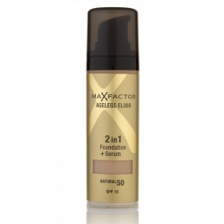 Max Factor Ageless Elixir 2in1 Foundation + Serum SPF 15 50 Natural 30ml