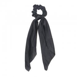 everneed Selma silk – knot scrunchie black