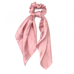 everneed Selma silk – knot scrunchie rosa
