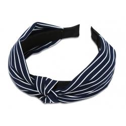 everneed Kara – stribet hårbøjle navy