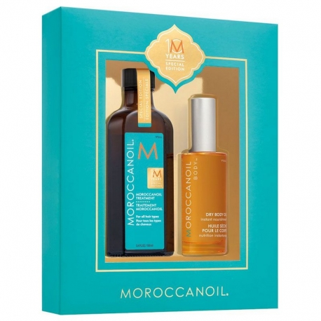Moroccanoil 10 Year Anniversary Gavesæt Treatment 100 ml og Dry Body Oil 50 ml