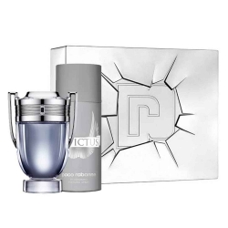 Paco Rabanne Invictus sæt EDT 100 ml og Deodorant Spray 150 ml